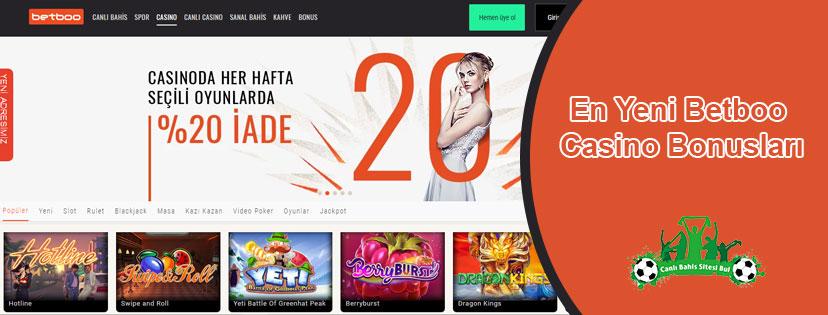 En Yeni Betboo Casino Bonusları